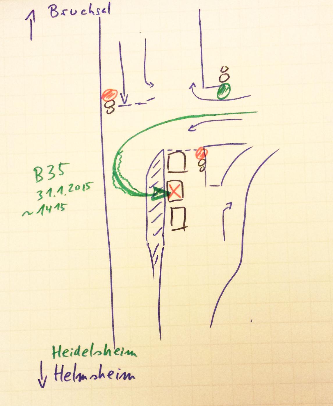 Großartig Verkehrsunfall Skizze Ideen - Schaltplan Serie Circuit ...